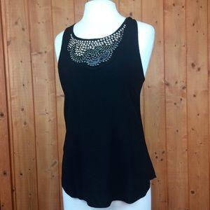 Vintage Black Lightweight Studded Embellished Top